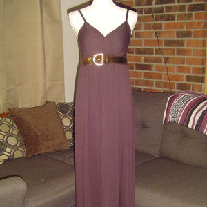 Charming Charlie Brown Belted Maxi Dress XL